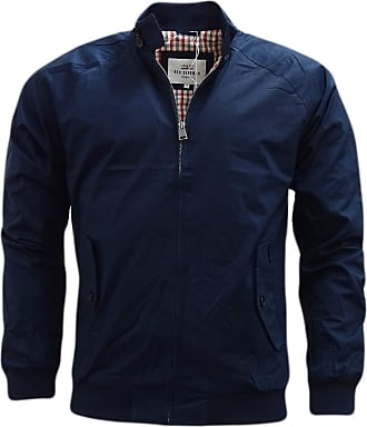 Ben Sherman Mens Check Lined Harrington Jacket - 47982 Navy Blue (M)
