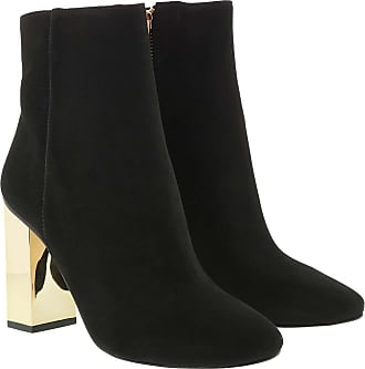 Michael Kors Boots & Booties - Single Sole Petra Bootie Galvanized Heel Black - black - Boots & Booties for ladies