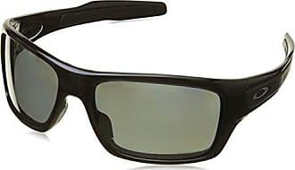 Oakley Mens Turbine Polarized Iridium Rectangular Sunglasses, Polished black, 63 mm