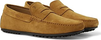 Tod's City Gommino Suede Driving Shoes - Tan