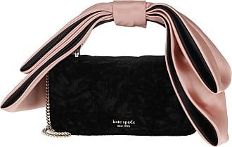 Kate Spade New York Bowie Velvet Mini Top Handle Bag Black Umhängetasche roségold