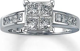 Kay Jewelers Diamond Engagement Ring 1-5/8 ct tw Princess-cut 14K White Gold