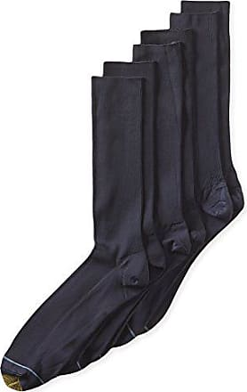 Gold Toe Mens Metropolitan Extended Sock, 3 Pack,Navy,13-15