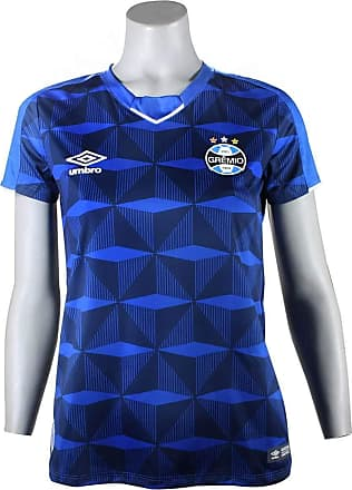 Umbro Camiseta Grêmio Feminina Umbro OF.3 2019 3G160991 Azul Marinho/Branco