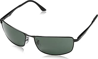 Ray-Ban 3498 002/71 Black RB3498 Rectangle Sunglasses Fishing, Driving Lens Category 3 Size 61mm