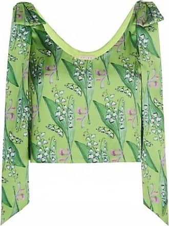 19.04 Floral-printed Crop Top With Bows