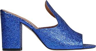 PARIS TEXAS Fashion Woman PX56LAMINATOEVOBLUE Blue Leather Sandals | Season Outlet