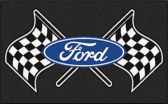 Fanmats Fan Mats Ford Flags Indoor Area Rug Black, Size: 4 x 6 ft. - 15831