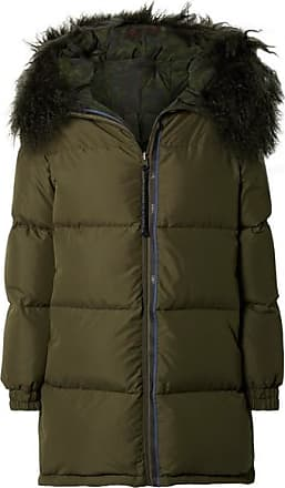 e3488a1d6fd Mr   Mrs Italy Hooded Shearling-trimmed Quilted Shell Down Coat - Dark green