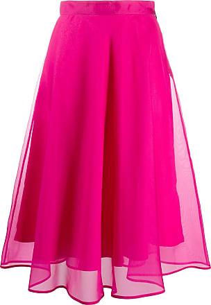 Msgm high-waisted midi skirt - PINK