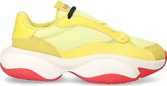 Puma Low-Top Sneakers ALTERATION textile Crinkled yellow