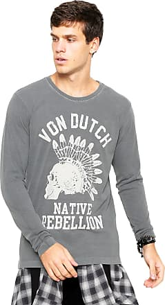 Von Dutch Camiseta Von Dutch Rebellion Cinza