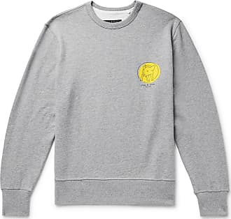 Rag & Bone Printed Mélange Loopback Cotton-jersey Sweatshirt - Gray
