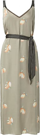 YaYa Satin Maxi Strap Kleid mit Zitronendruck - beige | viscose | 38 (UK 12) - Beige