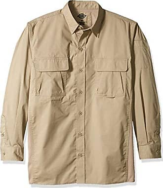 Dickies Mens Long Sleeve Ventilated Ripstop Tactical Shirt, Desert Sand, L