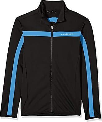 J.Lindeberg Mens Bridge Logo Midlayer Jacket, Silent Blue, Small