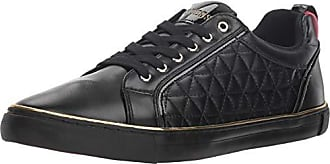 Guess Mens MOZER Sneaker, Black Patent, 12 M US