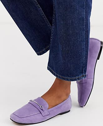Asos Mocha leather loafers in lilac-Purple