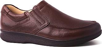 Doctor Shoes Antistaffa Sapato Masculino 3051 em Couro Floater Café Doctor Shoes-Café-42
