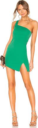 NBD x Naven Mona Asymmetrical Dress in Green