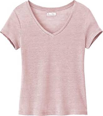 Enna T-Shirt mit V-Ausschnitt aus Leinenjersey, malve