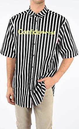 Marcelo Burlon Striped CONFIDENCIAL Bowling Shirt size M