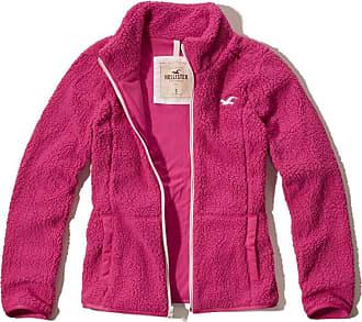 Hollister Womens Pink Fleece Jacket Size Small
