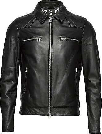 Replay Leather Jacket Läderjacka Skinnjacka Svart Replay