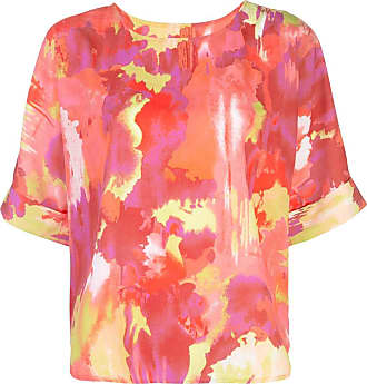 Natori Camiseta de crepe da china - Rosa