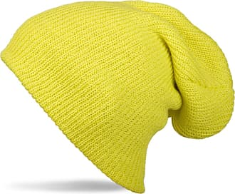 styleBREAKER Beanie, Slouch, Long Knitted hat, Double Knitted 04024004, Color:Yellow