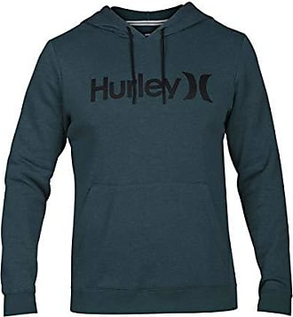 Hurley Mens Surf Check One & Only Pullover Hoodie, Rainforest//Black, XXL