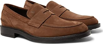 Tod's Suede Penny Loafers - Brown