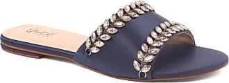 Unze Unze Women DELLA Diamante Low Heel Slippers UK Size 3-8 - AK-047