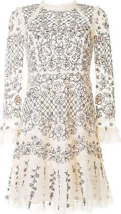 Needle & Thread floral embroidered layered style dress - DO NOT USE - Beige