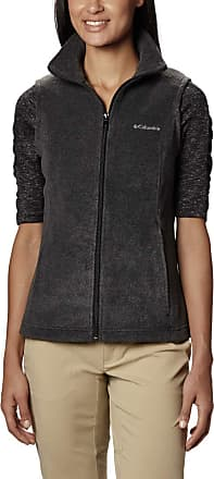 Columbia Womens Benton Springs Vest Fleece, Charcoal Heather, Large