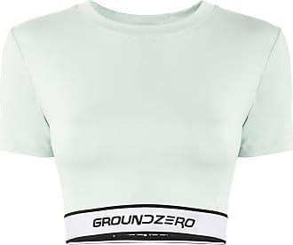 Ground-Zero Camiseta cropped com logo - Verde