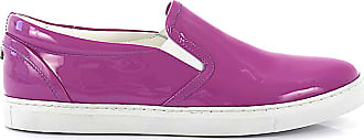Dsquared2 Low-Top Sneakers calfskin patent leather purple