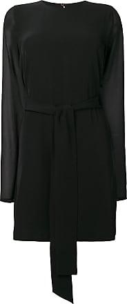 Blanca Vestido evasê de mangas longas - Preto