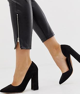 Asos Wide Fit Walter dorsay high heels in black - Black