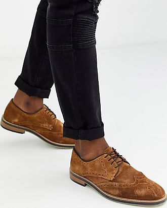 Burton Menswear brogues in brown-Tan