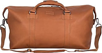 Kenneth Cole Reaction Kenneth Cole Reaction I Beg to Duff-er Colombian Leather 20 Single Compartment Top Zip Travel Duffel Bag, Cognac