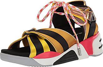 Marc Jacobs Womens Somewhere Sport Sandal, Yellow/Multi, 36 M EU (6 US)