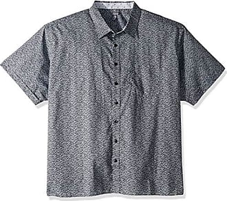 Van Heusen Mens Big and Tall Never Tuck Short Sleeve Button Down Shirt, Blue Colony, Large Tall