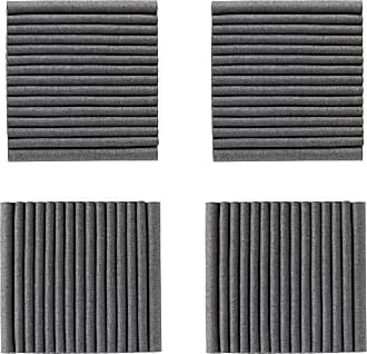 Hey-Sign Welle Akustikelement Wandmodul 4er Set - anthrazit/Filz in 3mm Stärke/LxBxH 40x40x9cm/mit Wandhalterungen