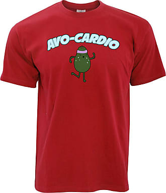 Tim And Ted Cute Avocado T Shirt AVO-Cardio Workout Pun Slogan - (Red/XXX-Large)