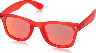 Polaroid Unisexs P8400 OZ 0Z3 Sunglasses, Matte Red/Red Mirror Polarized, 50