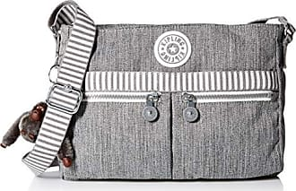 Kipling Womens Angie Crossbody Bag, Adjustable Shoulder Strap, Zip Closure, grey weave