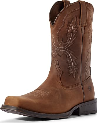 Ariat Mens Country Rambler Ultra Western Boots in Status Brown Leather, D Medium Width, Size 7.5, by Ariat