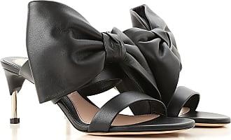 Alexander McQueen Sandals for Women On Sale, Black, Leather, 2017, 5 7 8 8.5