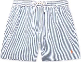34e1c6a3a8 Polo Ralph Lauren Mid-length Striped Cotton-blend Seersucker Swim Shorts -  Blue
